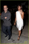 **EXCLUSIVE** 'Vampire Diaries' beauty Kat Graham is seen wearing a white dress and black open toed heels after dining at Fig & Olive with a friend