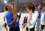 Nina con Serena Willians