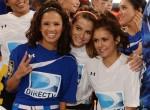Nina con Maria Menounos y Rocsi Diaz