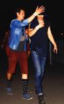 Paul con un amigo en el Festival de Musica de Coachella