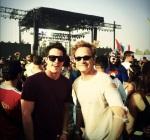 Michael Trevino y David Anders en Coachella