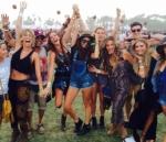 Con amigos en el Festival de Coachella